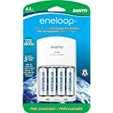 Eneloop 2000Mah Typical 1900Mah Minimum 1800 Cycle 4-Pack AA Ni-MH Pre-Charged Rechargeable Batteries with 4 Position Charger (SECMQN064N)(Discontinued by Manufacturer)