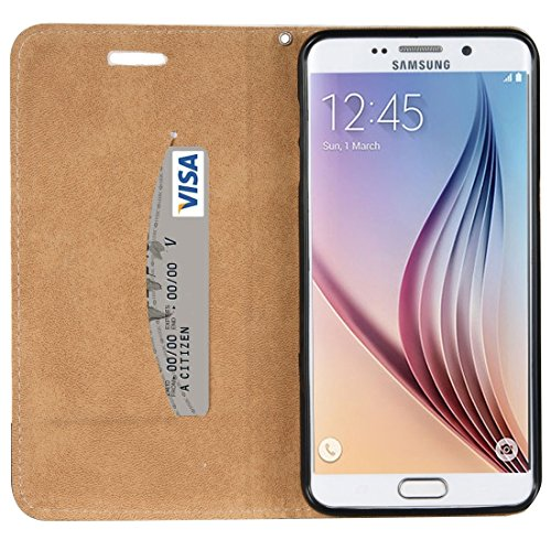 Fashion & personality Para Samsung Galaxy S6 Edge + / G928 patrón de cráneo 3D Relieve patrón horizontal Flip caja de cuero con el titular y ranuras para tarjetas y cordón ( SKU : Sas0911a ) Sas0911e