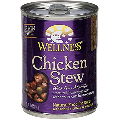 Wellness Natural Grain Free Wet Canned Dog Food, 12.5-Ounce Can (Pack of 12)