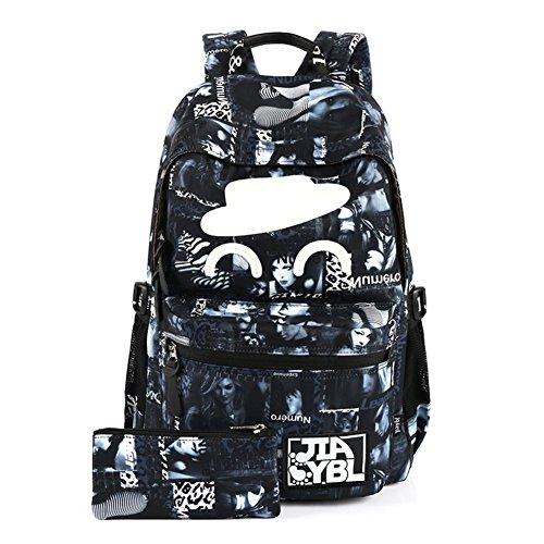 DACHUI Luz de gran capacidad bolsa, mochila de moda casual-D A