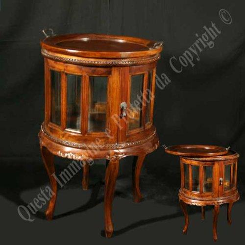Couchtisch cm 54x54 h 78 - Holz, Antik, Klassisch, Italienischer Produktion