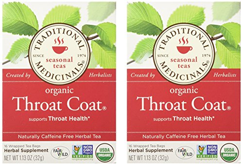 Traditional Medicinals Throat Coat, Seasonal Tea, Organic, 16 CT