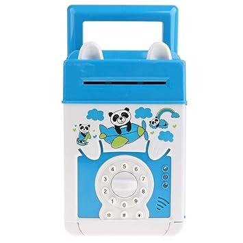 perfeclan Caja de Ahorro de Dinero Eléctrica con Luz Sonido Patrón de Máquina Bancaria ATM con Contraseñas Niños- Oso: Amazon.es: Juguetes y juegos
