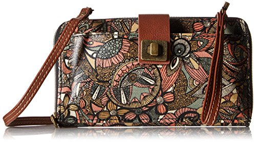 - Sakroots Artist Circle Large Smartphone Cross-Body Phone Wallet,Sienna Spirit Desert