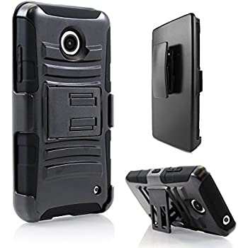 Lumia 635 Case, Nokia lumia 635 / Nokia lumia 630 iRobot StarShop Dual Layer Holster Case with Kickstand and Locking Belt Swivel Clip Black