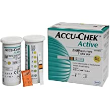 100 Test Strips for Accu-Chek Active Blood Glucose Monitoring System - Sealed Ships to WorldWide