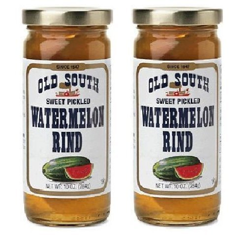 Old South Watermelon Rind Pickled Sweet 10 Ounce (Pack of 2)