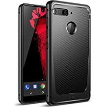 Essential Phone PH-1 Case, Poetic Karbon Shield Slim Fit Case with Anti-Slip Side Grip and Carbon Fiber Texture for Essential Phone PH-1 Black