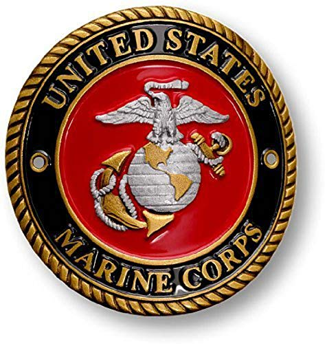 U.S. Marine Corps Hiking Stick Medallion (Walking Staff Medallions)