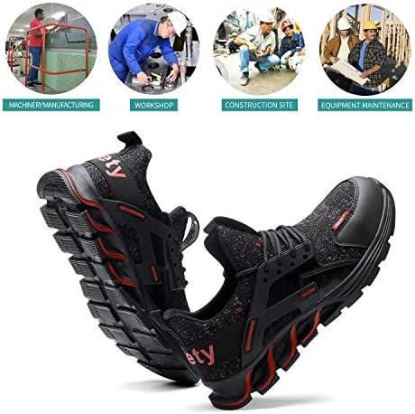 51IEYgLf0FL. AC TOSAFZXY Work Steel Toe Shoes Men Women, Puncture Proof Steel Toe Sneakers,Work Shoes Slip-Resistant Shoes Lightweight Breathable, Industrial & Construction Comfortable    Product Description