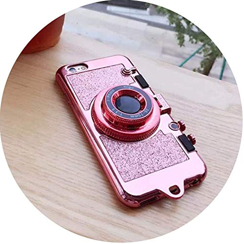 HOUBL Modern Necklace Case iPhone 7 8 6s Plus X Bling Glitter Phone Cases Coque iPhone 6Plus 7Plus 8Plus,Pink 7Plus 8Plus,Rosegold,for7Plus8Plus