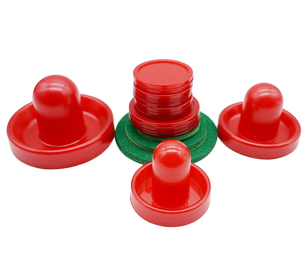 LZYMSZ Home Standard Air Hockey,6 Sets Light Weight Air Hockey Replacement Pucks and Slider Pusher for Game Tables Equipment Small//Medium//Large Size