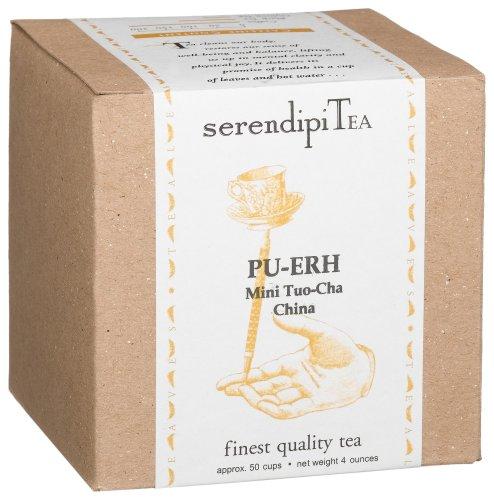 (SerendipiTea Pu-erh, Mini Tuo-Cha, China, Black Tea, 4-Ounce Box by SerendipiTea)
