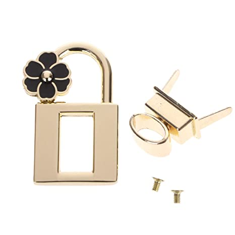 For DIY Handbag Craft Purse Parts Hardware Metal Bag Clasp Turn Lock Twist Lock