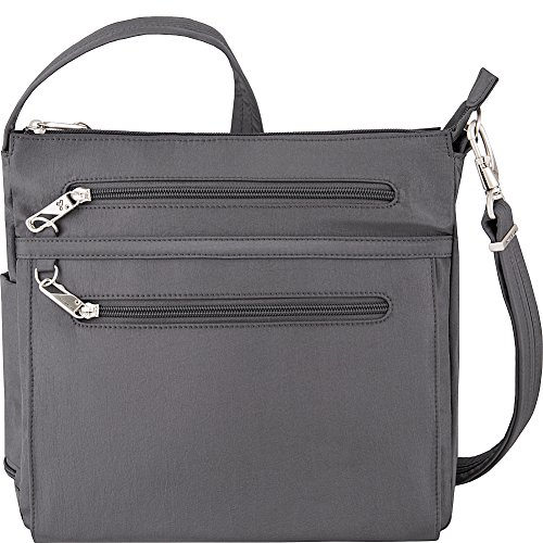 Emerald Interior North Theft South Travelon Anti Essential Pewter Crossbody Bag Dark zqnvn7W