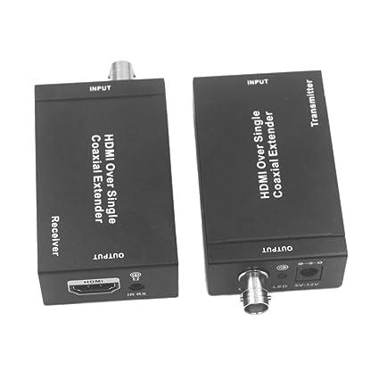 Baoblaze 1 pc de Extensor de HDMI Cables Coaxial con Enchufe EU de 100m