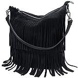 VMATE Women Retro Fringe Tassel Bag Tote Shoulder Bag Messenger Bag