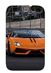 Perfect Lamborghini Gallardo Lp4 Spider Performante Cabriolet Convertible Roadster Italian Dreamcar Supercar Exoticsportscar Orange Arancione Case Cover Skin For Galaxy S3 Phone Case