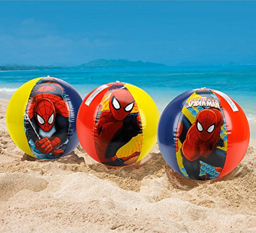 "New Inflatable 3 Pack Marvel Spiderman 20"" Beach Ball Summer Toys for Kids"