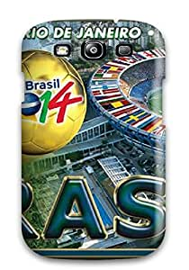 Awesome Fifa 2014 World Cup Game Flip Case With Fashion Design For Galaxy S3