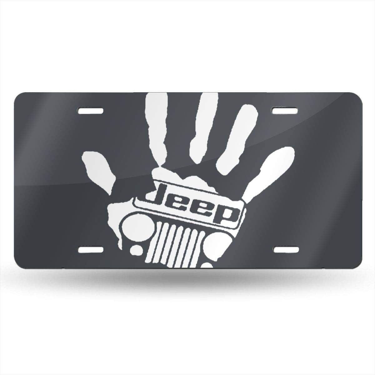 Jeep Girl License Plate Car Auto Tag Aluminum Personalized Metal Sign for Car Decoration White
