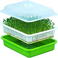WESTLINK Seed Sprouter Tray, Big Capacity BPA Free Soil Free Hydroponics Sprouting Basket with Lid for home, office and garden use.