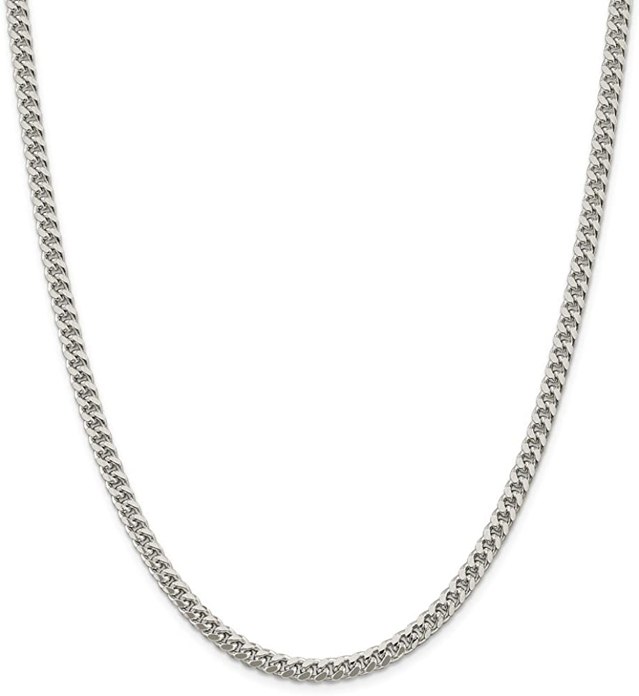 925 Sterling Silver Domed Curb Chain Necklace