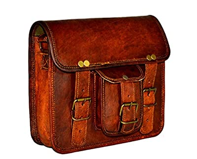 ADIMANI Vintage Handmade Travel Distressed Satchel Leather Messenger Sling bag for women Size 9L x 7H inches