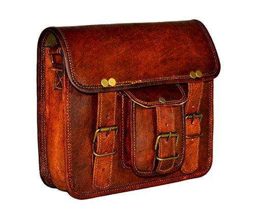 ADIMANI Vintage Handmade Travel Distressed Satchel Leather Messenger Sling bag for women Size 9L x 7H inches