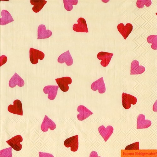 Emma Bridgewater lunch napkins Hearts - 33 cm square 20 in pack