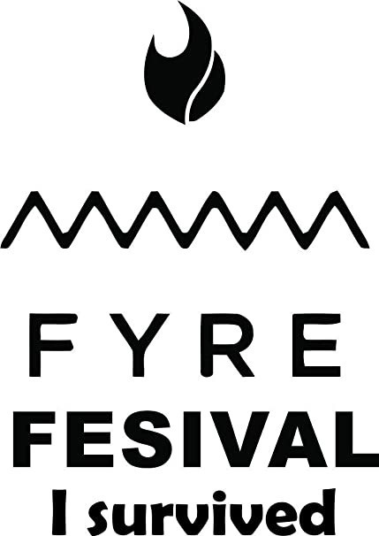 Amazon com: Fyre Festival Wall Decals For Wall or Car / Fire