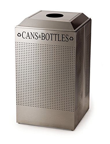 - Rubbermaid Commercial Products FGDCR24CSS Silhouette Recycling Containers for Cans, Square