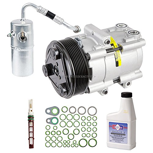 New AC Compressor & Clutch With Complete A/C Repair Kit For Ford F-150 w/ 8-Groove Clutch - BuyAutoParts 60-81385RK New