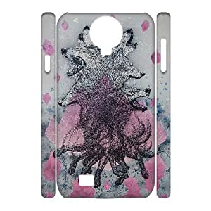 Wolf Colorful Painting 3D Custom Durable Hard Plastic Case Cover LUQ348331 For SamSung Galaxy S4 I9500