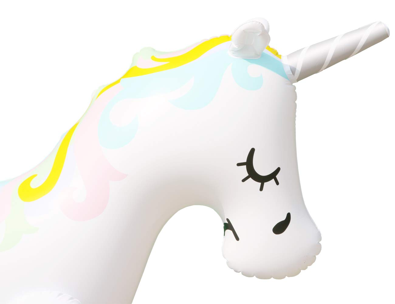 LANGXUN Ginormous Inflatable Unicorn Yard Sprinkler Toy for Kids, Perfect for Unicorn Party Supplies & Outdoor Summer Sprays Water Toys for Toddlers 6