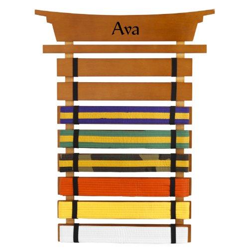 Price comparison product image KidKraft Personalized Martial Arts Belt Holder with Black Zen - Ava
