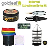 Big Harvest Essential Oil Extraction and Drying Kit with Micropore Bags, Rack, Trimmers & Cleaning Solution
