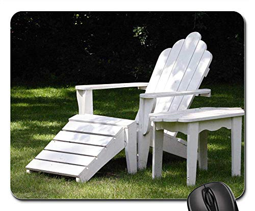 Mouse Pad - Chair Table Adirondack Air White Breeze Bright