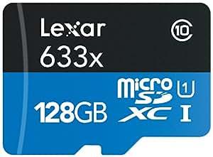 Lexar High-Performance microSDXC 633x 128GB UHS-I/U3 w/USB 3.0 Reader Flash Memory Card - LSDMI128B1NL633R