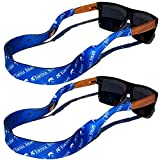 TORTUGA STRAPS FLOATZ RF Sea Blue Glasses Strap - 2 Pk | Floating Adjustable Sunglass Straps | Soft & Comfortable Dual Sided Fabric | 3MM Neoprene Base for Added Durability | Universal Easy Fit