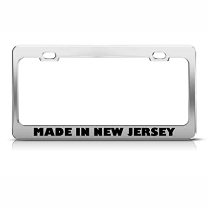 Amazon.com: AdriK Made in New Jersey License Plate Frame Stainless ...