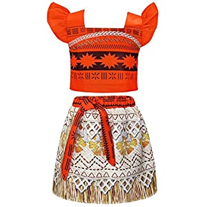 AmzBarley Costume for Girls Dress up Toddler Baby Cosplay Outfit Little Kids Skirt Sets