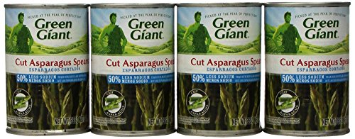 Green Giant Cut Asparagus Spears, Low Salt, 14.5-Ounce Cans (Pack of 12)