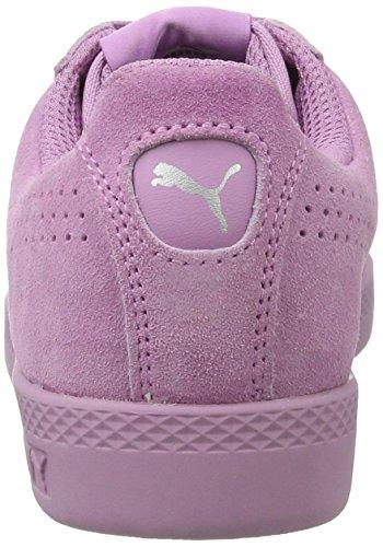 Puma Women's Smash Perfsd Low-Top Sneakers, Black-Black, 5 UK Purple (Smoky Grape-smoky Grape)