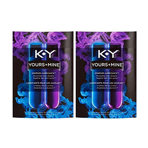 K-Y Yours + Mine Couples Personal Lubricants, 3 Ounce (Pack of 2) by K-Y