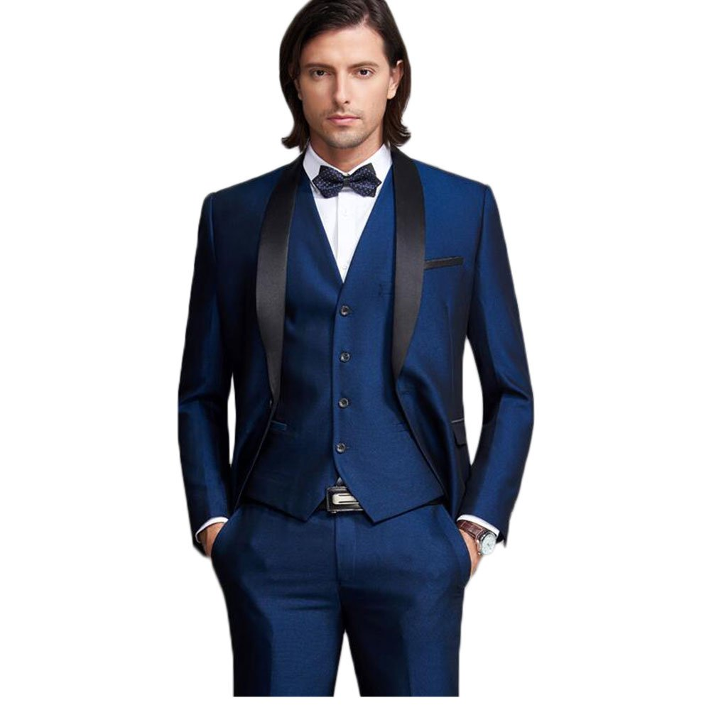 Yanlu Shawl Lapel Men's Suits 3 Pieces Wedding Suits For Men Groom Tuxedos