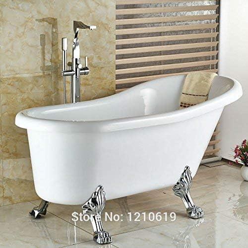 BZM-ZM 蛇口新しく現代ファッションの浴室の浴槽の蛇口ミキサータップのw/ハンドスプレー床立ちクロームバスタブ蛇口ワンハンドル、マルチ