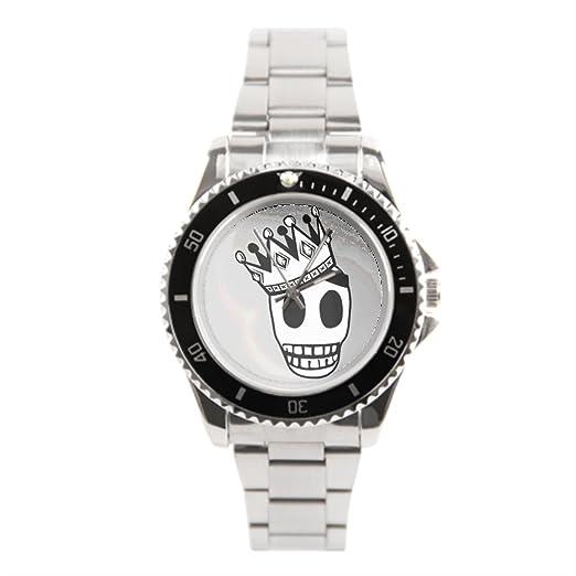 Calavera vintage reloj de pulsera baratos Relojes de acero inoxidable: Amazon.es: Relojes