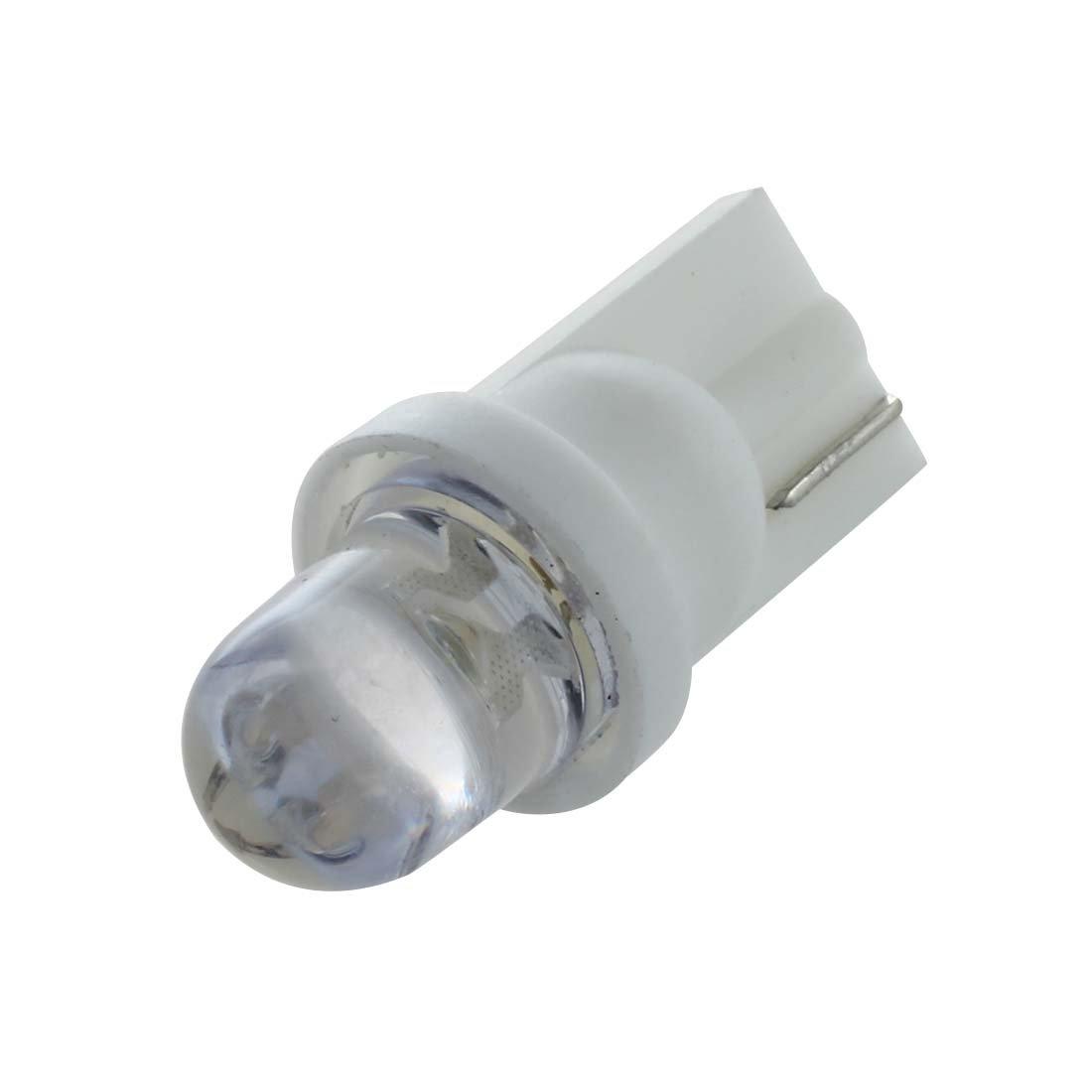 SODIAL(R) 10 X T10 A294 LED 12V Bombilla Lampara Luz con Cupula Matricula del Coche Blanco