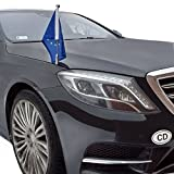 DIPLOMAT-FLAGS Car Flag Pole Diplomat-Z-Chrome-MB-W222 for Mercedes-Benz S-Class W222 (2013-) Review